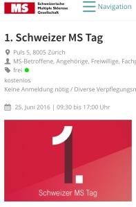 1. Schweizerischer MS Tag